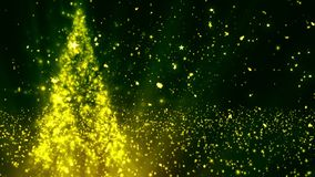 Christmas Tree Glitters 2 stock footage