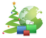 Christmas tree globe and presents Royalty Free Stock Photography