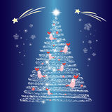 Christmas tree glowing Royalty Free Stock Photography