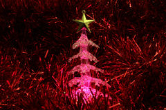 Christmas tree glowing Royalty Free Stock Photo