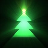Christmas tree glowing light flare Stock Photography