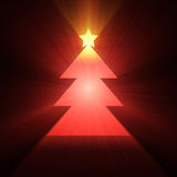 Christmas tree glowing light flare Royalty Free Stock Photos