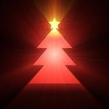 Christmas tree glowing light flare Royalty Free Stock Photos