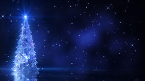 Christmas tree and glowing stars Royalty Free Stock Photo