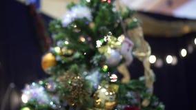 Christmas tree goes away and blurs