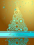 Christmas tree. Gold and blue Stock Photo