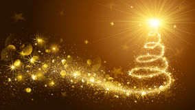 Christmas Tree Gold  Royalty Free Stock Images