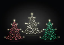 Christmas tree-gold red green Royalty Free Stock Photos