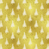 Christmas Tree Gold White Faux Foil Trees Background Royalty Free Stock Photography