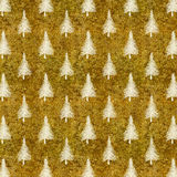 Christmas Tree Gold White Faux Foil Trees Background Stock Photos