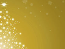 Christmas tree golden Stock Image
