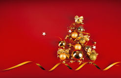 Christmas tree with golden balls Stock Image