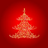 Christmas tree, golden ornament Royalty Free Stock Photography