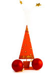 Christmas tree with golden star Royalty Free Stock Image