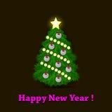 Christmas tree and golf balls Royalty Free Stock Photos