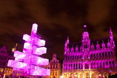 Christmas tree in Grand Place, Brussels Stock Image