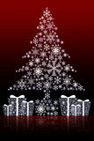 Christmas tree graphic background Stock Photo