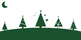 Christmas tree. Graphic design - Christmas tree with star, green Royalty Free Stock Image
