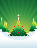 Christmas tree green Stock Image