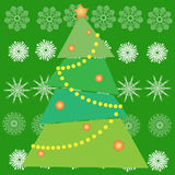 Christmas tree in green Stock Photos