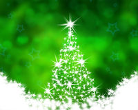 Christmas tree on the green Stock Photo