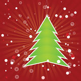 Christmas tree green applique Stock Images