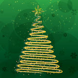Christmas tree on green background Royalty Free Stock Image