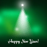 Christmas tree with green background Stock Photography