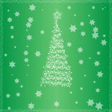 Christmas tree with green background Royalty Free Stock Photography