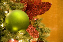 Christmas tree green ball Stock Image