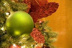Christmas tree green ball Stock Image