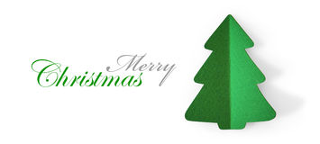 Christmas tree green color Royalty Free Stock Images