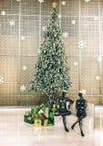 Christmas Tree - Green & Gold Theme Stock Photo