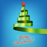 Christmas tree from green ribbon and star. EPS 10 Stock Photos