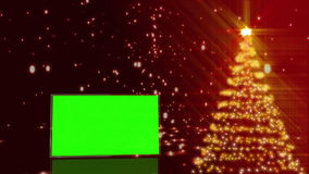 Christmas tree with green screens animation stock footage