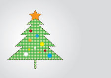 Christmas Tree in Green Shades. Vector Christmas tree rounded by dashed lines.Green and light inner pattern Royalty Free Stock Photos