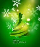 Christmas tree, green shiny abstract background Royalty Free Stock Photos