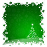 Christmas tree from green snowflakes Royalty Free Stock Photography