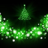 Christmas tree from green snowflakes Royalty Free Stock Image