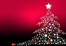 Christmas Tree greeting Royalty Free Stock Images