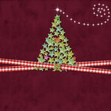 Christmas tree greeting background Royalty Free Stock Photos