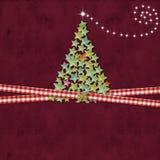 Christmas tree greeting background Royalty Free Stock Photos