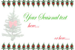 Christmas tree greeting card Stock Image