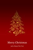 Christmas tree, Greeting card Stock Images