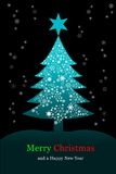Christmas tree, Greeting card Royalty Free Stock Image