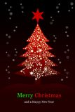 Christmas tree, Greeting card Stock Image