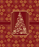 Christmas Tree, Greeting Card Royalty Free Stock Photo