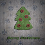 Christmas tree greeting card Stock Image