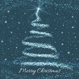 Christmas Tree Greeting Card Stock Photos