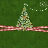Christmas tree greeting card Royalty Free Stock Photography